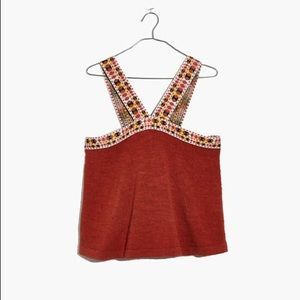✰ Madewell Embroider Strap Swing Top ✰